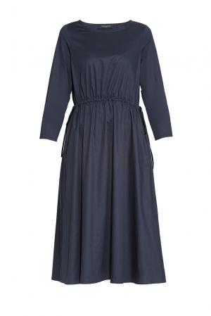 Платье из хлопка 173148 Cyrille Gassiline. Цвет: синий