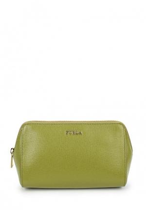 Косметичка Furla. Цвет: зеленый