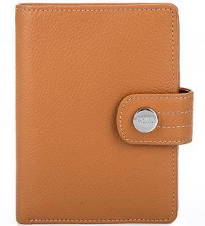 Оранжевое портмоне из натуральной кожи Picard. Цвет: оранжевый