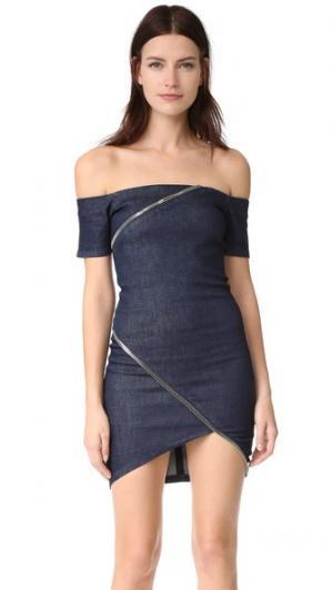 Платье Lilou RtA. Цвет: коричневый