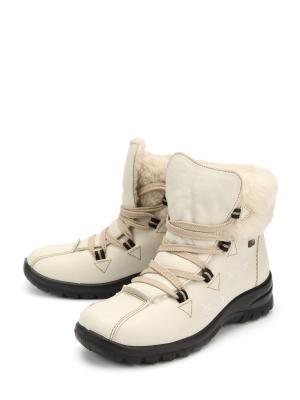 Ботинки Rieker. Цвет: белый