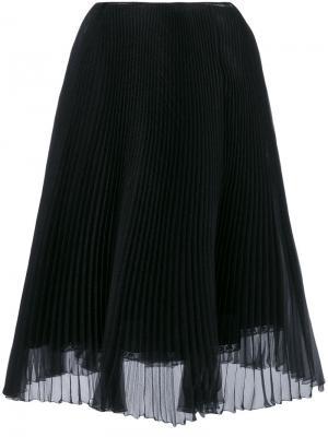 Плиссированная юбка Prada. Цвет: чёрный