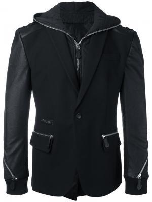 Куртка-блейзер на молнии Philipp Plein. Цвет: чёрный