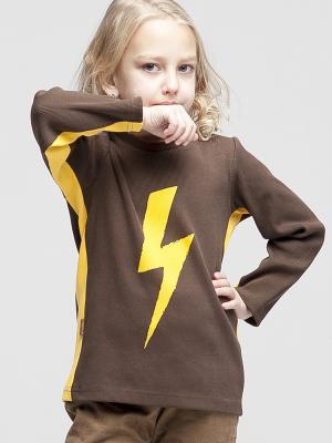 Свитшот Стрела Sardina Baby. Цвет: коричневый, желтый
