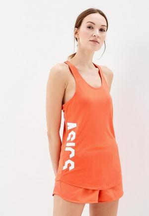 Майка спортивная ASICS. Цвет: оранжевый