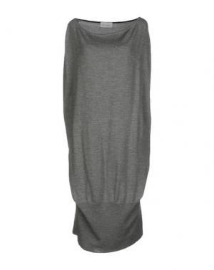 Платье до колена PAOLO ERRICO. Цвет: серый