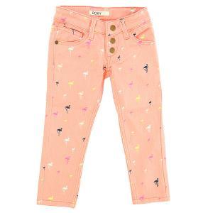 Джинсы прямые детские  Yellow Pant Big Pop Flamingo Com Roxy. Цвет: розовый