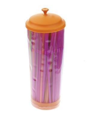 Коктейльные трубочки - 150 шт., футляр Migura. Цвет: оранжевый