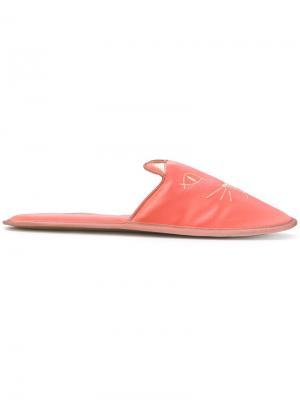 Тапочки Kitty Charlotte Olympia. Цвет: розовый и фиолетовый
