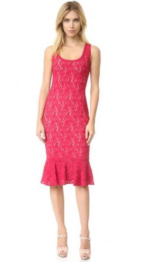 Кружевное платье без рукавов Fuzzi. Цвет: porpora