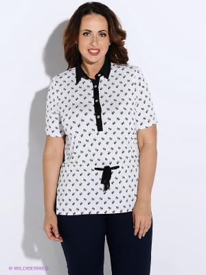 Блузка BALSAKO. Цвет: белый, черный