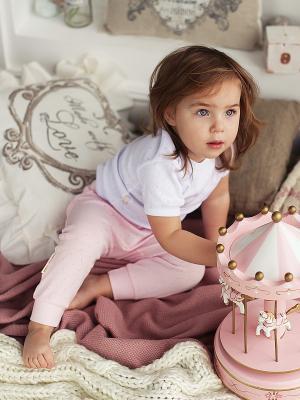 Футболка, 2 шт Lucky Child. Цвет: розовый, белый