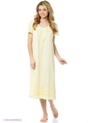 Ночная сорочка Aria. Цвет: желтый