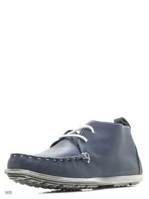 Ботинки STORM. Цвет: голубой