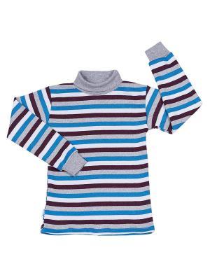 Водолазка с начесом МИКИТА. Цвет: лазурный, бордовый, серый меланж, белый