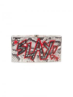 Клатч с граффити x Re/Done Elisabeth Weinstock. Цвет: чёрный