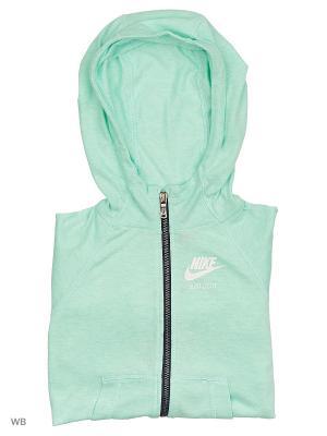 Толстовка GYM VINTAGE FZ HOODIE YTH Nike. Цвет: синий, светло-зеленый