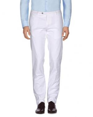 Повседневные брюки TOMBOLINI. Цвет: белый