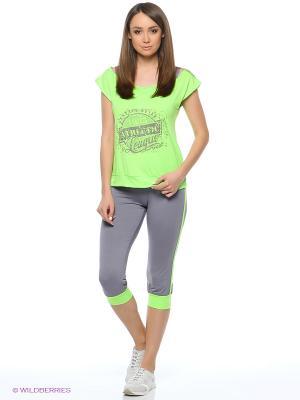 Спортивный костюм FORLIFE. Цвет: серый, зеленый