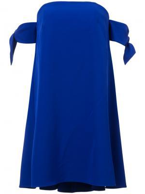 Платье с узлами на рукавах Milly. Цвет: синий