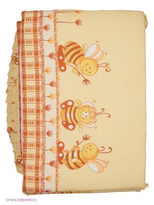 Борт Пчелки Сонный гномик. Цвет: желтый