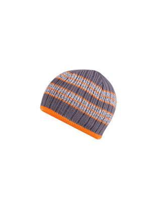 Шапка детская ESLI. Цвет: оранжевый, серый