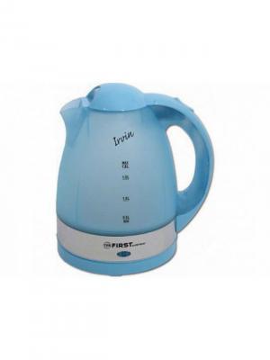 Чайник FIRST  5427-1 , пластиковый, 1.8 л, полупрозрачный корпус Blue. Цвет: синий