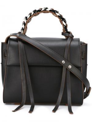 Маленькая сумка-тоут Angel Elena Ghisellini. Цвет: чёрный