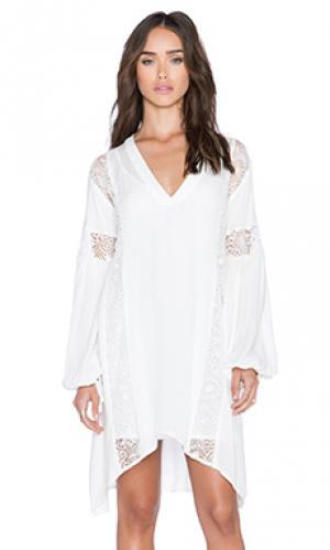 Платье mellow The Allflower Creative. Цвет: белый