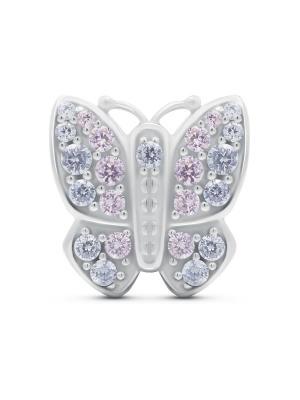 Шарм Моя бабочка BUNNY. Цвет: серебристый, сиреневый, бледно-розовый