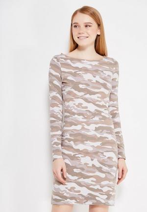 Платье oodji. Цвет: хаки