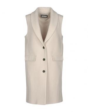 Пальто CAPPELLINI by PESERICO. Цвет: бежевый