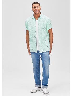 Рубашка с короткими рукавами S.OLIVER. Цвет: зеленый