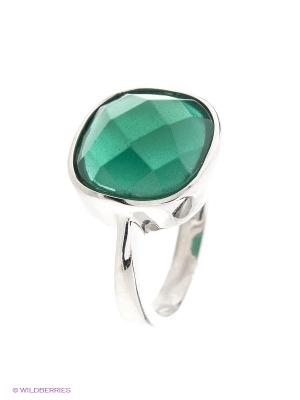 Кольцо BALEX. Цвет: серебристый, зеленый