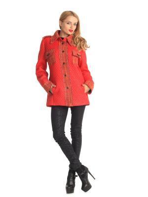 Куртка Artwizard. Цвет: красный, желтый, оранжевый