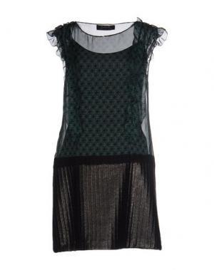 Короткое платье KRISTINA TI. Цвет: цвет морской волны