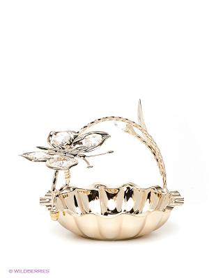 Конфетница Бабочка Юнион. Цвет: золотистый