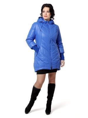 Стеганое пальто DizzyWay. Цвет: синий