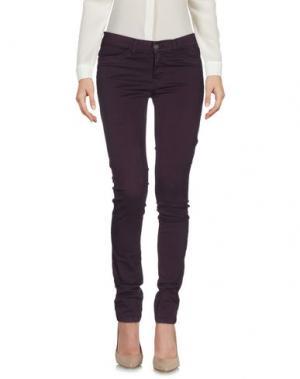 Повседневные брюки GOLD CASE. Цвет: баклажанный