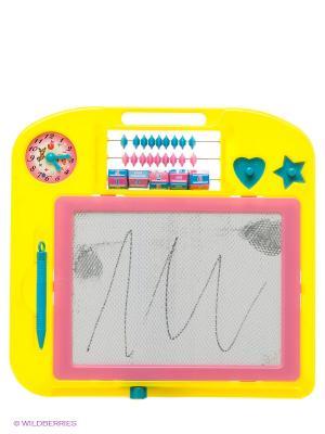 Магнитная доска для рисования Amico. Цвет: желтый, розовый