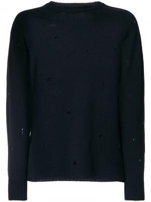 Distressed jumper Dondup. Цвет: синий