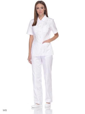 Блузка медицинская Med Fashion Lab. Цвет: белый