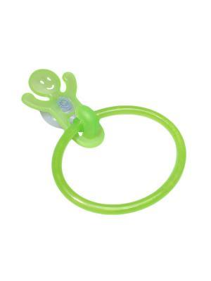 Крючок-кольцо для полотенец на присоске Migura. Цвет: зеленый