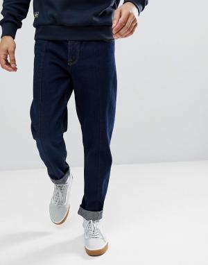 ASOS Суженные джинсы цвета индиго свободного кроя. Цвет: синий