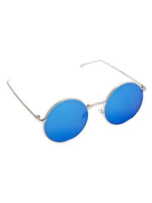Солнцезащитные очки Aiyony Macie. Цвет: серебристый, голубой