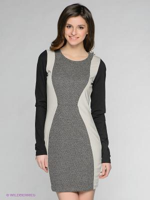 Платье Vero moda. Цвет: черный, бежевый