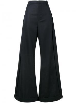 Широкие брюки с завышенной талией Jacquemus. Цвет: синий