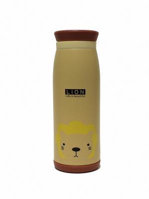 Термос 0,5 л с животными Eleon. Цвет: светло-коричневый, светло-желтый, светло-оранжевый