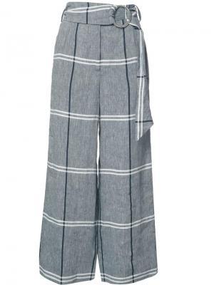 Plaid cropped trousers Suno. Цвет: серый