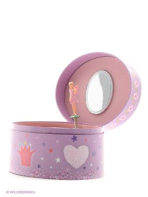 Музыкальная шкатулка с фигуркой в форме овала Jakos. Цвет: фиолетовый, розовый, коричневый